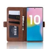 Samsung Galaxy Note 10 Plus hoesje (Note 10+), Luxe 3-in-1 bookcase, bruin_