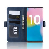 Samsung Galaxy Note 10 Plus hoesje (Note 10+), Luxe 3-in-1 bookcase, donkerblauw_