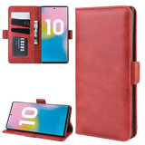 Samsung Galaxy Note 10 Plus hoesje (Note 10+), Luxe 3-in-1 bookcase, rood_
