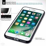 Apple iPhone 7 Plus / iPhone 8 Plus hoesje, gel case, mat zwart_