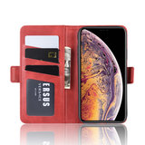 iPhone 11 Pro Max hoesje, Luxe 3-in-1 bookcase, rood_