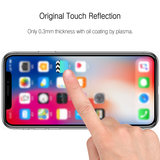 Apple iPhone 11 Pro Max / iPhone XS Max screenprotector, MobyDefend gehard glas screensaver, Zwarte randen_