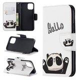 iPhone 11 Pro hoesje, 3-in-1 bookcase met print, panda, hello_