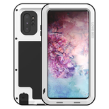 Samsung Galaxy Note 10 Plus hoes (Note 10+), Love Mei, metalen extreme protection case, wit_