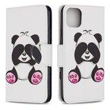 iPhone 11 Pro Max hoesje, 3-in-1 bookcase met print, zittende panda_