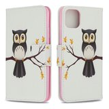 iPhone 11 Pro Max hoesje, 3-in-1 bookcase met print, uiltje_
