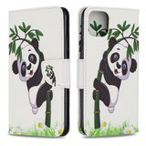 iPhone 11 Pro Max hoesje, 3-in-1 bookcase met print, bamboe panda_