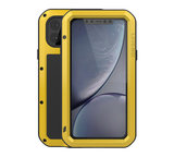 Apple iPhone 11 Pro Max hoes, Love Mei, Metalen extreme protection case, Geel_