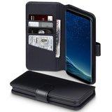 Samsung Galaxy S8 Plus (S8+) hoesje, MobyDefend luxe echt leren bookcase, Zwart_