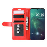 Nokia 6.2 / Nokia 7.2 hoesje, 3-in-1 bookcase, rood_