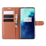 OnePlus 7T Pro hoesje, 3-in-1 bookcase, bruin_