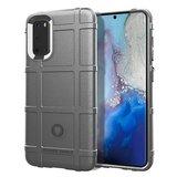 Samsung Galaxy S20 hoesje, Rugged shield TPU case, Grijs_