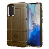 Samsung Galaxy S20 hoesje, Rugged shield TPU case, Bruin_