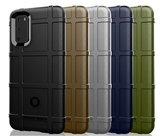 Samsung Galaxy S20 hoesje, Rugged shield TPU case, Blauw_