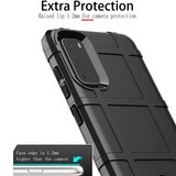 Samsung Galaxy S20 hoesje, Rugged shield TPU case, Groen_