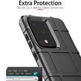 Samsung Galaxy S20 Ultra hoesje, Rugged shield TPU case, Grijs_