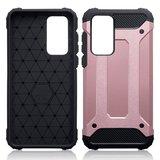 Huawei P40 hoesje, Dubbel gelaagde pantsercase, Rosé goud_