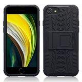 Apple iPhone SE (2020) / iPhone 7 / iPhone 8 hoesje, Pantsercase met standaard, Zwart_
