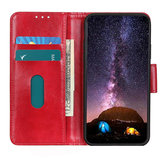Samsung Galaxy A31 hoesje, Wallet bookcase, Rood_