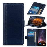 Samsung Galaxy A31 hoesje, Luxe wallet bookcase, Blauw_