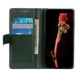 Samsung Galaxy A31 hoesje, Luxe wallet bookcase, Groen_
