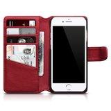 Apple iPhone SE (2020) / iPhone 7 / iPhone 8 hoesje, MobyDefend luxe echt leren bookcase, Rood_