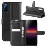 Sony Xperia L4 hoesje, Wallet bookcase, Zwart_
