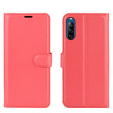 Sony Xperia L4 hoesje, Wallet bookcase, Rood_