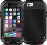 Apple iPhone 6 / iPhone 6S hoes, Love Mei, metalen extreme protection case, Zwart_