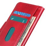 Samsung Galaxy Note 20 hoesje, Wallet bookcase, Rood_