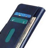 Samsung Galaxy Note 20 hoesje, Wallet bookcase, Blauw_