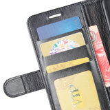 Samsung Galaxy Note 20 hoesje, Wallet bookcase, Zwart_