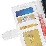 Samsung Galaxy Note 20 hoesje, Wallet bookcase, Wit_