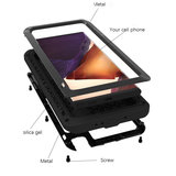 Samsung Galaxy Note 20 hoes, Love Mei, metalen extreme protection case, zwart_