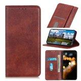OnePlus 9 Pro hoesje, Luxe Wallet bookcase, Bruin_