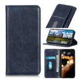 OnePlus 9 Pro hoesje, Luxe Wallet bookcase, Blauw_