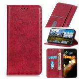 OnePlus 9 Pro hoesje, Luxe Wallet bookcase, Rood_