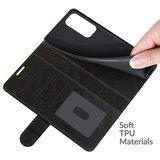 Oppo Find X3 Neo hoesje, MobyDefend Wallet Book Case (Sluiting Achterkant), Zwart_