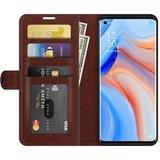Oppo Find X3 Neo hoesje, MobyDefend Wallet Book Case (Sluiting Achterkant), Bruin_