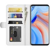 Oppo Find X3 Neo hoesje, MobyDefend Wallet Book Case (Sluiting Achterkant), Wit_