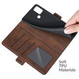 Motorola Moto G30 / G20 / G10 hoesje, MobyDefend Luxe Wallet Book Case (Sluiting Zijkant), Bruin_