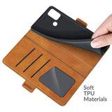 Motorola Moto G30 / G20 / G10 hoesje, MobyDefend Luxe Wallet Book Case (Sluiting Zijkant), Lichtbruin_