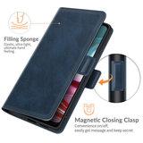 Motorola Moto G30 / G20 / G10 hoesje, MobyDefend Luxe Wallet Book Case (Sluiting Zijkant), Blauw_