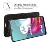 Motorola Moto G30 / G20 / G10 hoesje, MobyDefend Wallet Book Case (Sluiting Achterkant), Zwart_