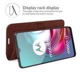 Motorola Moto G30 / G20 / G10 hoesje, MobyDefend Wallet Book Case (Sluiting Achterkant), Bruin_