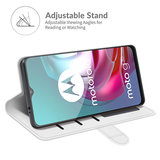 Motorola Moto G30 / G20 / G10 hoesje, MobyDefend Wallet Book Case (Sluiting Achterkant), Wit_