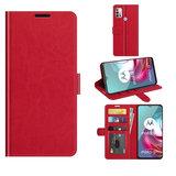 Motorola Moto G30 / G20 / G10 hoesje, MobyDefend Wallet Book Case (Sluiting Achterkant), Rood_