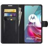 Motorola Moto G30 / G20 / G10 hoesje, MobyDefend Kunstleren Wallet Book Case, Zwart_