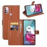 Motorola Moto G30 / G20 / G10 hoesje, MobyDefend Kunstleren Wallet Book Case, Bruin_