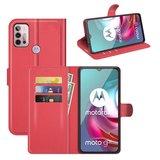 Motorola Moto G30 / G20 / G10 hoesje, MobyDefend Kunstleren Wallet Book Case, Rood_